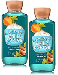 - Bath and Body Works 2 Pack Whipped Vanilla & Spice Shower Gel 10 Oz.