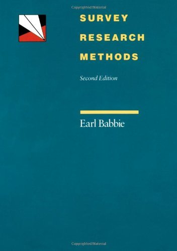 By Earl R. Babbie - Survey Research Methods: 2nd (second) Edition
