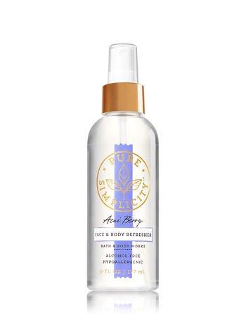 Bath & Body Works Hypo-allergenic ACAI BERRY Face & Body Refresher