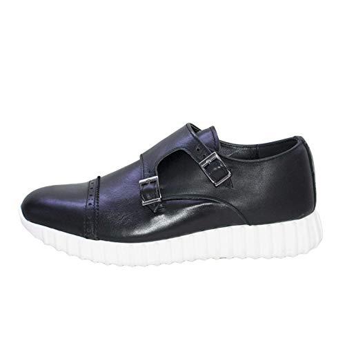 In Made Running Italy Uomo Bassa Scarpe Doppia Morbidissima Fibbia Vera Comfort Sneakers Nappa Pelle tUqTY0xwq