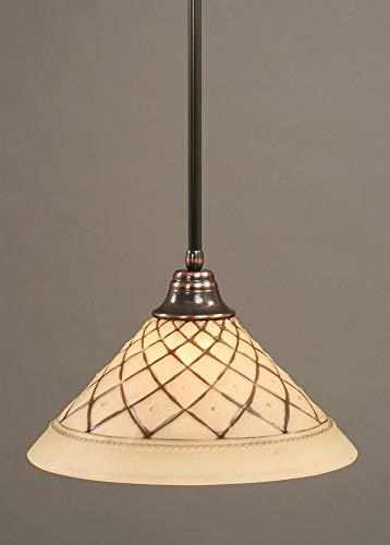 - 1 Light Any Stem Pendant Finish: Black Copper, Size: 16