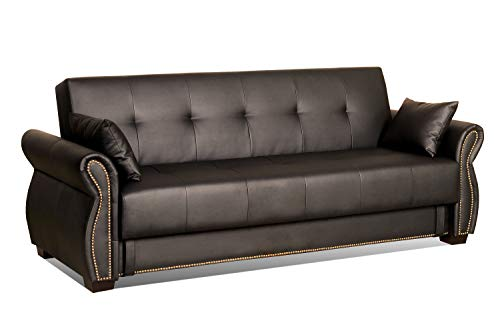 - Serta SA-AVO-JB-Set Dream Convertible Seville Sofa with Storage, Java