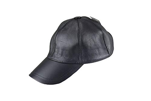 NewMoon Adjustable Classic Leather Baseball Outdoor Cap Hat,Black