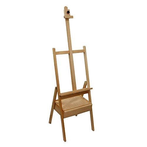 US Art Supply Studio H-Frame Wood Artist Painting Floor Easel with Storage Drawer ()