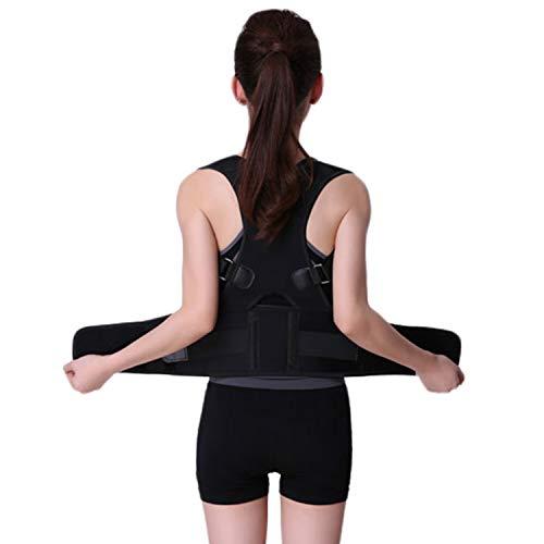 Magnetic Posture Corrector Shoulder& Back Brace Clavicle Support Lumbar-Adjustable Belt Trainer for Women Men Back Pain Relief Improves Posture