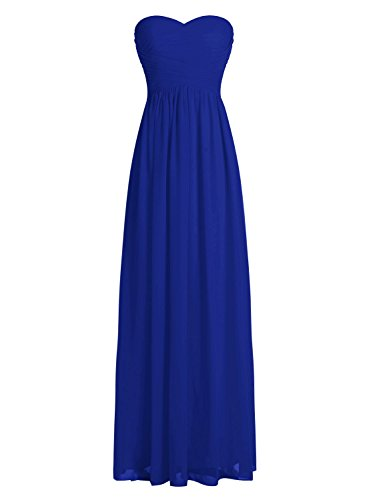 Dressystar Robe de demoiselle d'honneur/de soirée longue formelle Taille 40 Bleu Saphir