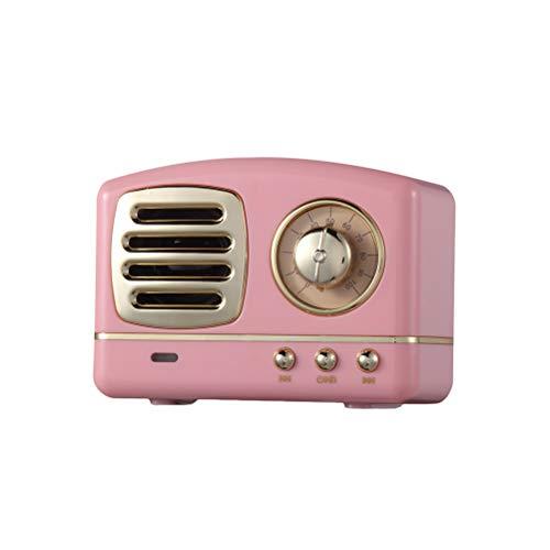 Healifty Altavoz inalámbrico portátil de Alta fidelidad Bluetooth V4.1 con Radio FM (Rosa)
