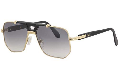 Cazal Legends Men's 990 001SG Black/Gold Retro Pilot Sunglasses 59mm
