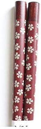 LSBXWL Tragbare Japanische Kirschblüten Holz Essstäbchen Geschirr Reiseutensilien Handgemachte Bento Partner Geschenk Mit Vorzüglichem Küche (Color : 1)
