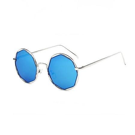 WWIN Frau Brille kleines Gesicht gestalten Sonnenbrille leere Runde Sonnenbrille Stutzen Rahmen spiegelkugel
