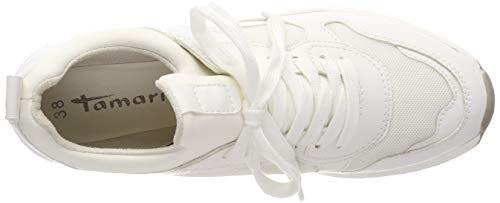 1 Basse Scarpe white 100 Donna 23728 Tamaris 100 Da Ginnastica 22 1 Bianco 15wxaq4Z