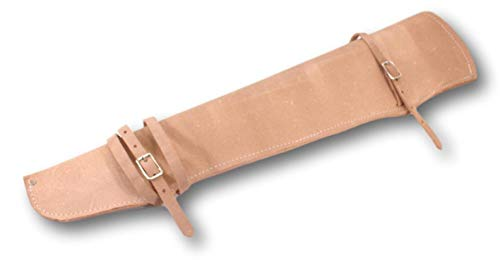 Scabbard Rifle Saddle (Roughout Leather Rifle Scabbard for Western Saddle Made in USA Horse Tack)