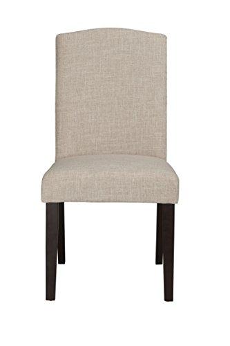 Boraam 83718 Champagne Parson Dining Chair, White Sand