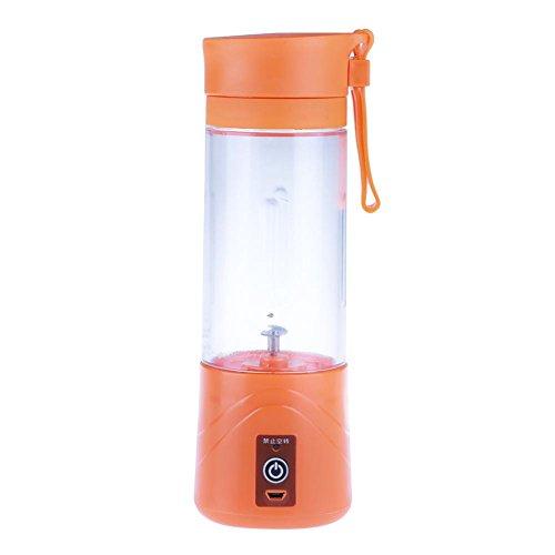 Whitelotous Mini USB Portable Electric Fruit Juicer Smoothie Maker Blender Machine Sports Bottle(Orange) by Whitelotous