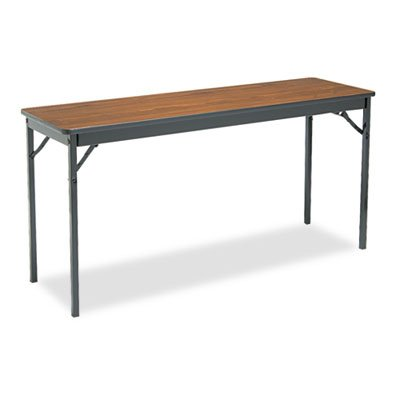 BARRICKS MANUFACTURING CO Special Size Folding Table, Rectangular, 60w x 18d x 30h, Walnut, Sold as 1 Each ()