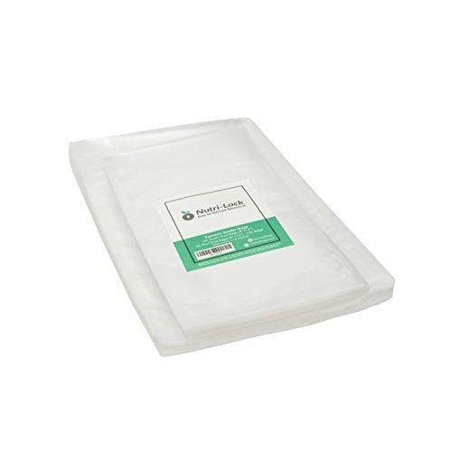 Nutri-Lock Vacuum Sealer Bags. (100 Bags) 50 Quart and 50 Pint Bags. Commercial Grade Food Sealer Bags for FoodSaver, Sous Vide