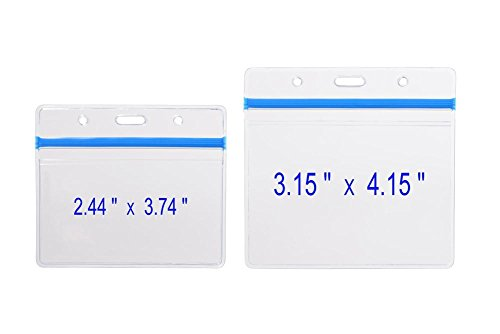 49d77c7f8978 10 Pack Heavy Duty Horizontal Name Tag Badge ID Card Holder ...
