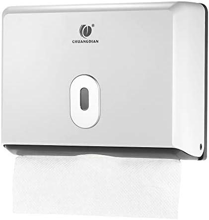 Anself Papieren handdoekdispenser vouwhanddoekdispenser voor wandbevestiging voor gevouwen handdoeken