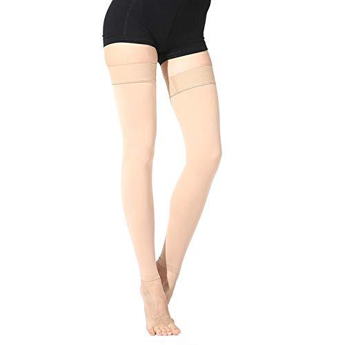 Ladeyi Thigh High Compression Stockings Thigh High Pressure Leg Hose Second Pressure Leg Hose Prevent Varicose Edema Opaque Treatment Swelling Varicose Veins Edema