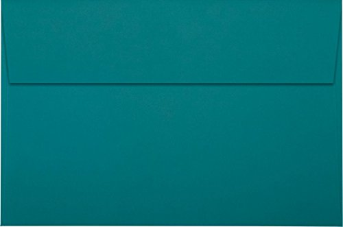 A9 Invitation Envelopes w/Peel & Press (5 3/4 x 8 3/4) - Teal (50 Qty) | Perfect for Invitations, Greeting Cards, Thank You Cards, Announcements and so much more! | EX4895-25-50