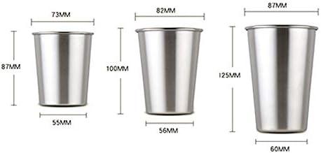 Nikgic 3 St/ück Silber 230 ml Wasserbecher Einfacher Trinkbecher Keine Abdeckung