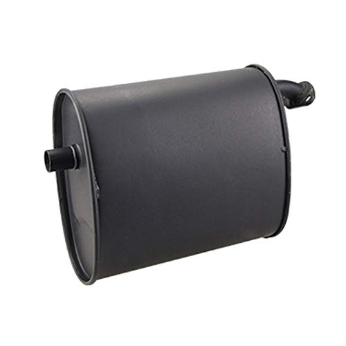Universal Black Iron 2-3KW Exhaust Muffler Silencer for 5.5HP 6.5HP 3500W 4000W Gasoline Generator