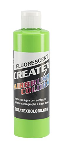 Airbrush Textile Paint (Createx Colors Paint for Airbrush, 8 oz, Fluorescent Green)
