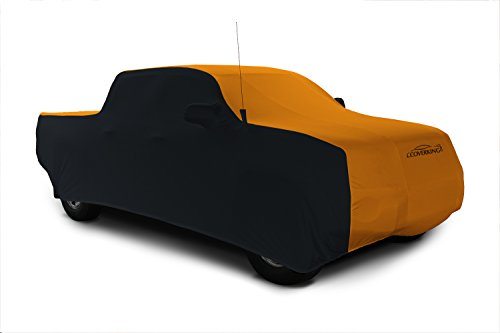 Coverking Custom Car Cover for Select Toyota Pickup Models - Satin Stretch (Rust Orange with Black Sides)