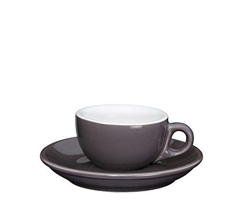 Cilio 4017166215113 Roma Macchiato Espresso Cup, Porcelain, one Size, Grey