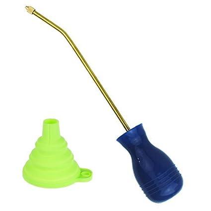 Cailorlife Dispensador Aplicador de Insecticida en Polvo Antiinsectos Alimañas, Bombilla Plumero Pulverizador (Azul)