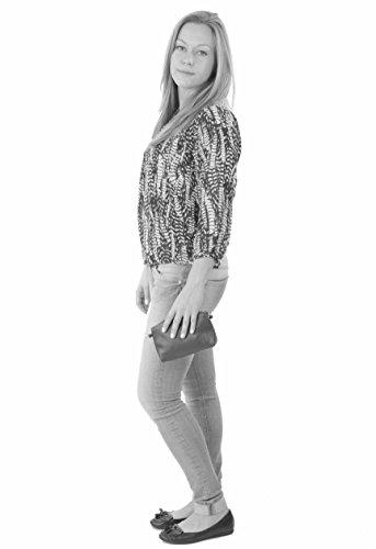 histoireDaccessoires - Clutch de Cuero de Mujer - PO131623O-Madeline CamelCamel