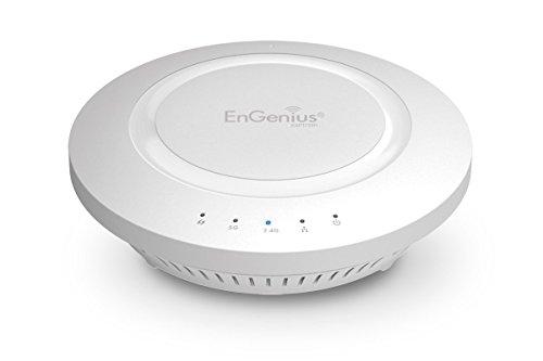 EnGenius 802.11ac 3x3 Dual Band, high-powered, long range, 28 dBm, Indoor Ceiling-Mount Wireless AP with integrated Antennas, gigabit port, (EAP1750H) (Renewed)