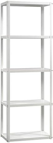Sauder Harvey Park Tower Bookcase, Arctic White finish