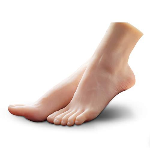 Cyomi 足マネキン モデル 模型 トルソー フット 美脚 超リアル 女性 実物大 シリコン製 ネイル付き (両足)