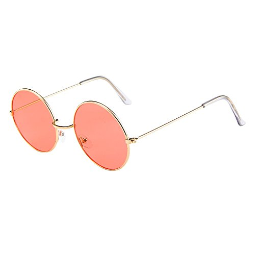 - AMOFINY Fashion Glasses Women Men Vintage Retro Unisex Fashion Circle Frame Sunglasses Eyewear