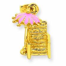 Petits Merveilles D'amour - 14 ct Or 585/1000 Emameled chaise de plage-Pendentif
