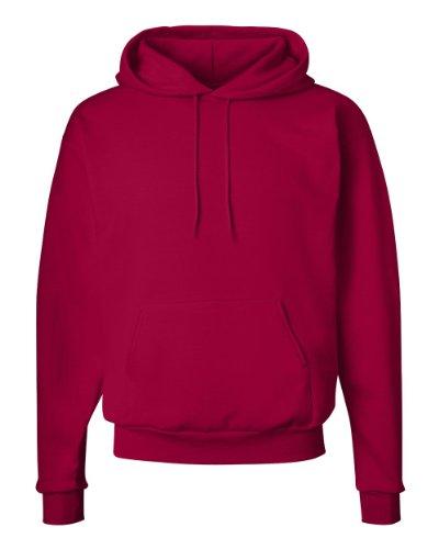 Hanes Men's Pullover EcoSmart Fleece Hoodie, Deep Red, Medium