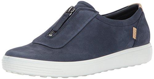 ECCO Womens Womens Soft 7 Zip Sneaker Marine Nubuck vRJF45vVE