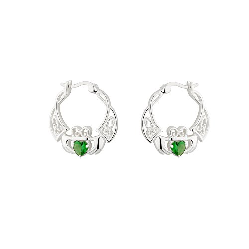 Claddagh Hoop Earrings from Ireland Sterling Silver by Failte