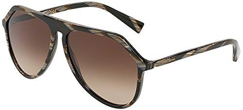 (Dolce & Gabbana Men's DG4341 Brown Horn/Brown Gradient One Size)