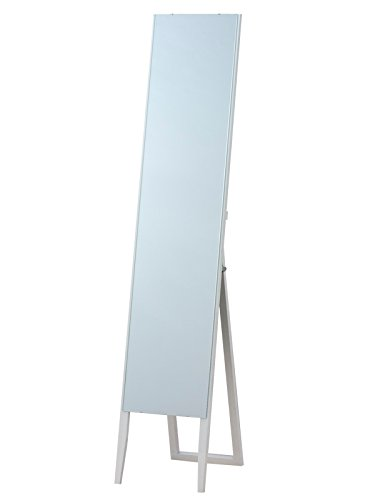枠なし ノンフレーム スタンドミラー ホワイト(白) 全身鏡 幅30cm x 高さ150cm 飛散防止 シンプル ミラー ショップ 姿見 B07BZPBK5Z ホワイト ホワイト