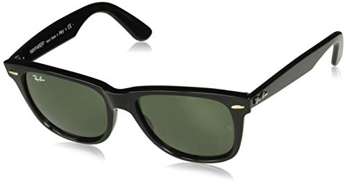 Ray-Ban RB2140 Wayfarer Sunglasses, Black, 50 ()