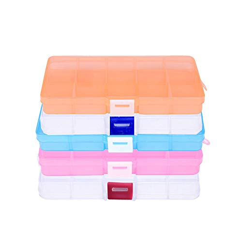 (5 PCS Plastic Small Organizer Container Box with Lid)