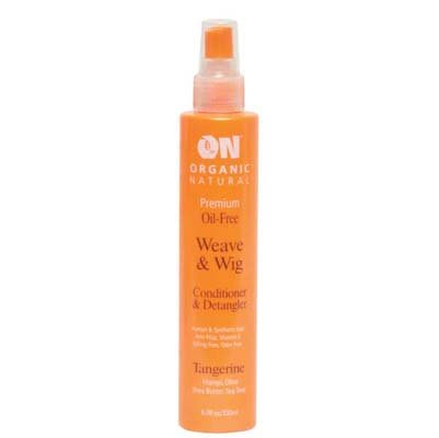 Wig Care (ON Organic Natural Premium Oil-Free Weave & Wig Conditioner & Detangler Tangerine 2.0 fl oz)