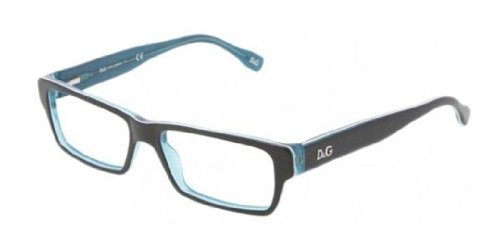 D&g Urban Dd1203 Eyeglasses 1870 Black Turquo/white Turquo Demo Lens 52 15 - Optical D&g Frames