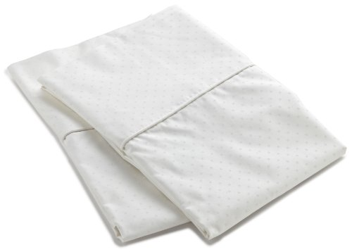 Charisma Lexington Dot King Pillowcase Pair, Snow (Lexington Pillow)