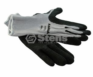 Stens # 751-151 Coated Work Glove for Gray String Knit, LargeGray String Knit, Large