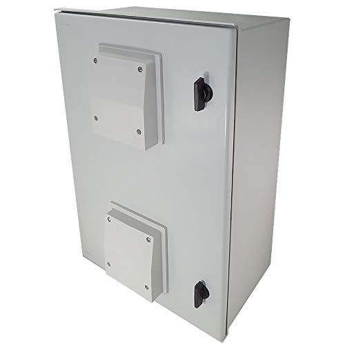 - Altelix 24x16x9 Vented FRP Fiberglass NEMA Weatherproof Enclosure with Hinged Lid & Quarter-Turn Latches