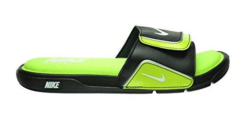 Nike Comfort Slide 2 Men's Slides Black/White-Volt-Metallic Silver 415205-019 (13 D(M) US)