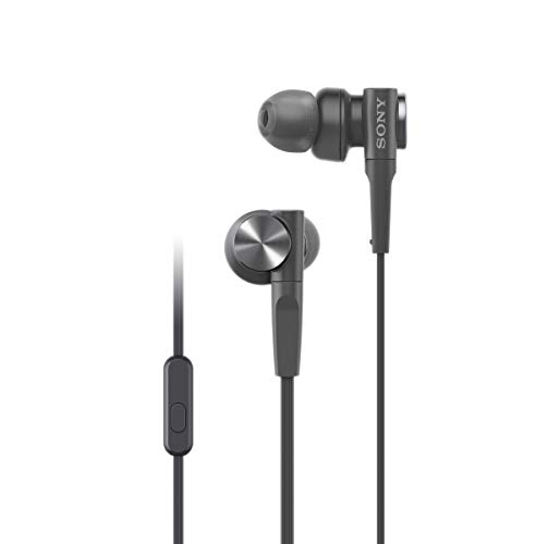 Sony MDRXB55AP/B Extra Bass Wired In-ear Headphones for club like sound - Black
